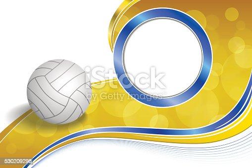 Astratto Sfondo Pallavolo Disegno Vettoriale: Sfondo Astratto Blu Giallo Palla Sport Pallavolo