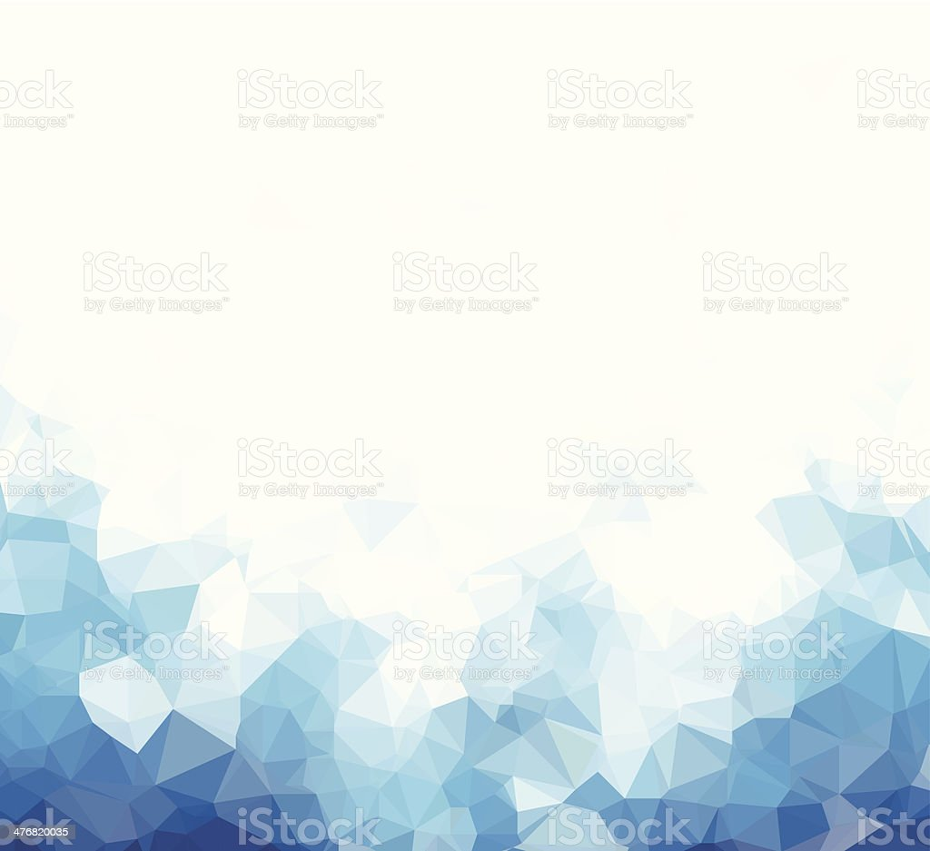 Background abstract triangle geometry pattern blue blank page vector art illustration