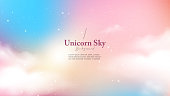 istock Background abstract unicorn galaxy light with star and cloud 1223671470