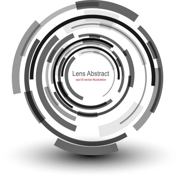 Background  abstract Background with circular abstract lens design, vector illustration. aperture stock illustrations