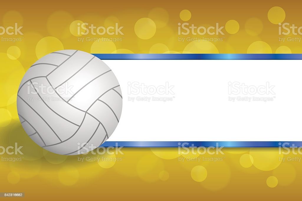 Abstract Background Volleyball Vector Design: Background Abstract Volleyball Blue Yellow Ball Frame