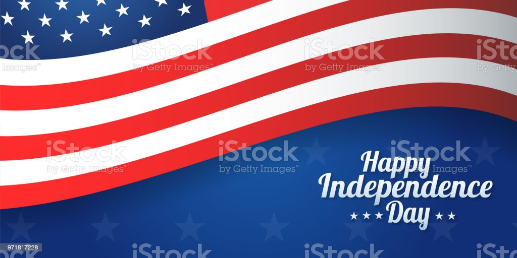 Background banner for 4th july, Independence Day. USA celebration. Vector design Happy Independence Day vector art illustration