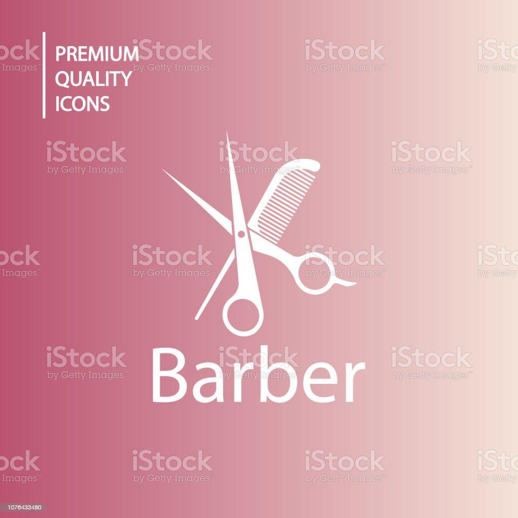ícones de barbeiro de fundo - ilustração de arte em vetor