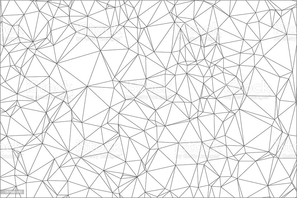 Background black and white polygon. vector art illustration