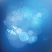 Background in blue gradient color with bubbles.