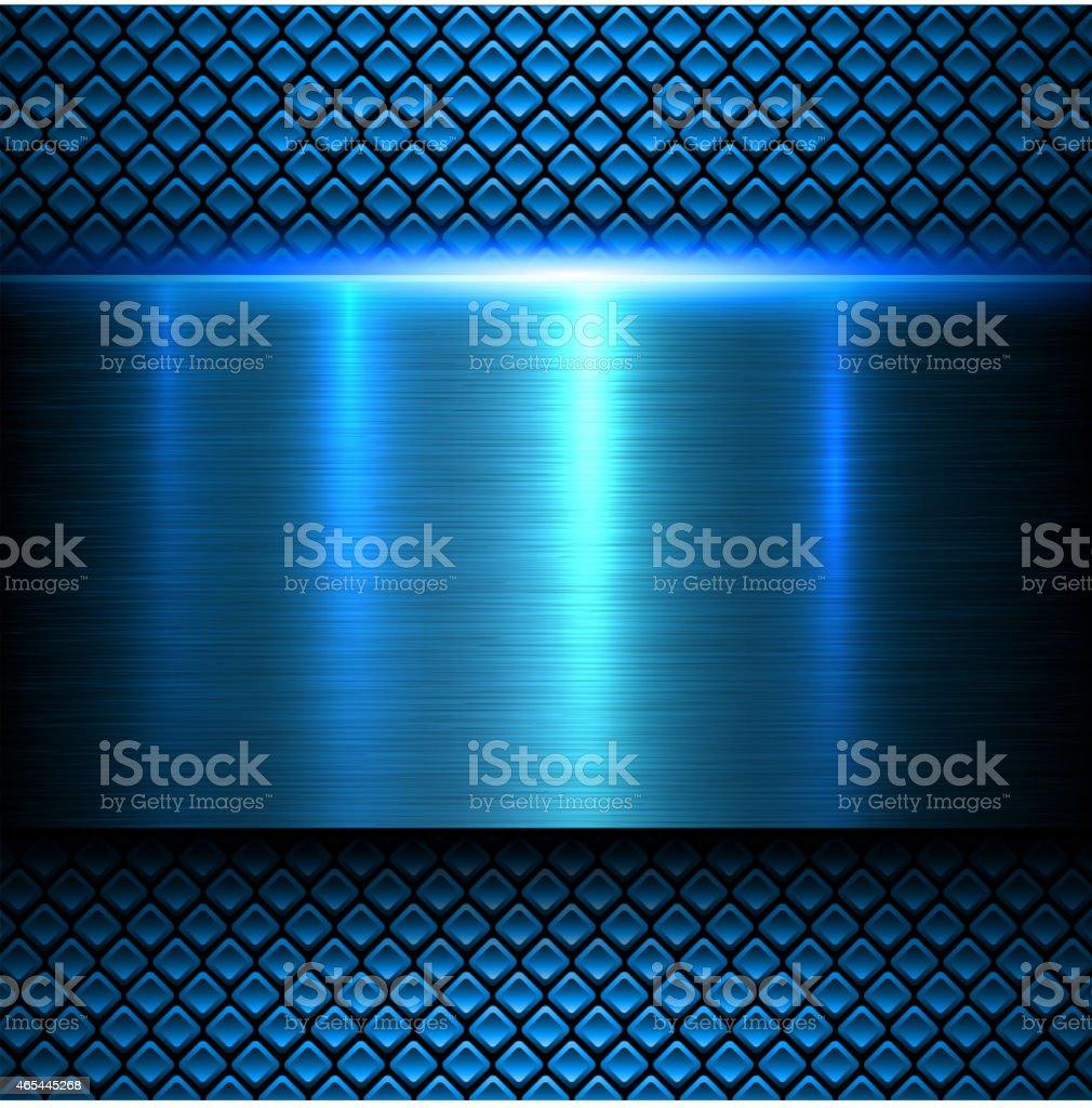 Background blue metal texture vector art illustration
