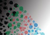 Background business illustration of colorful bubbles.