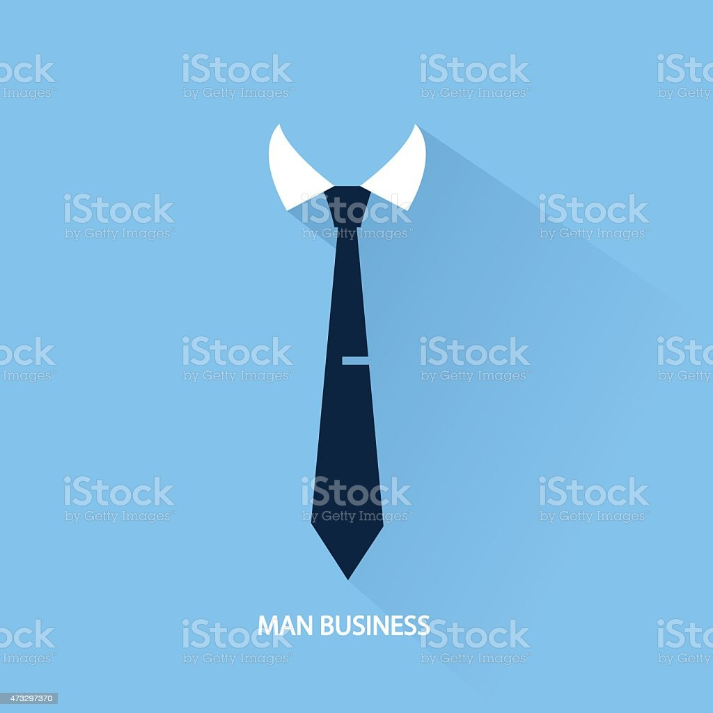background businessman tie vector art illustration