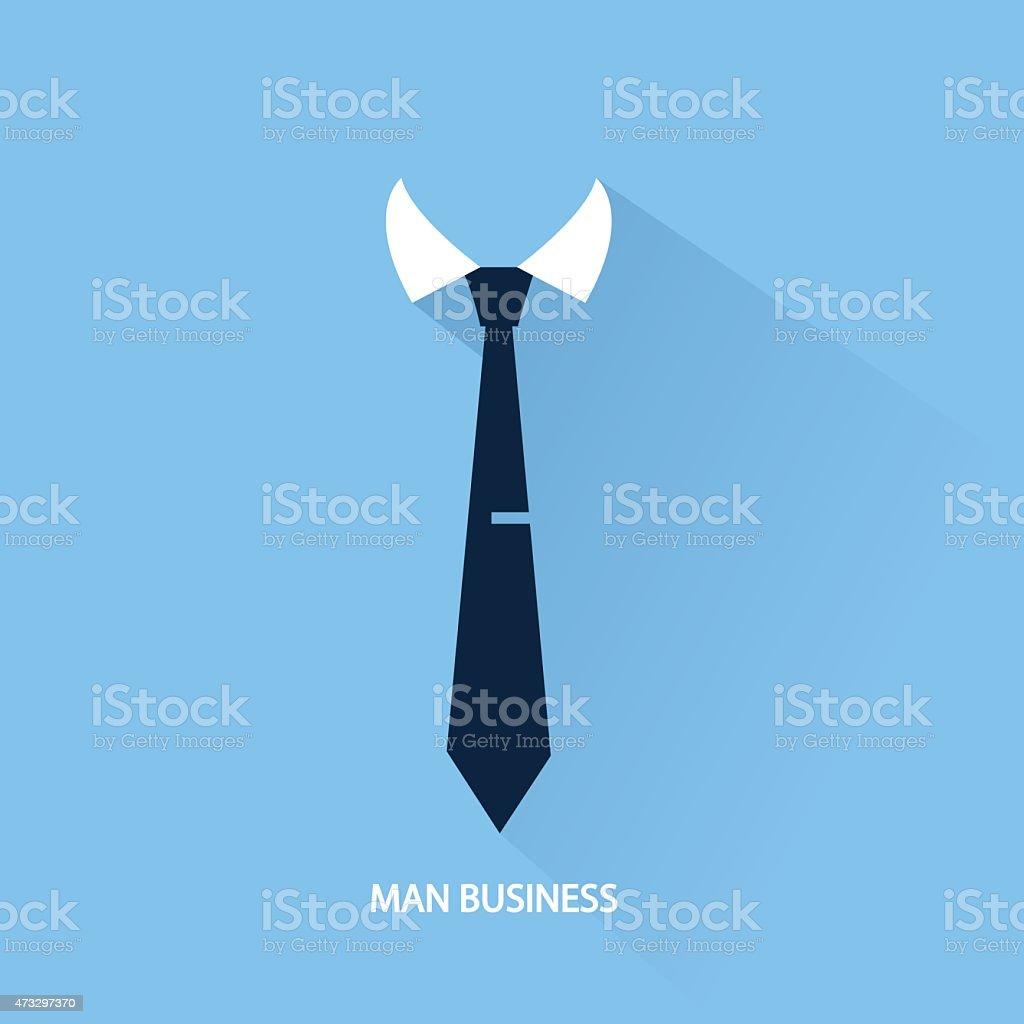 Hintergrund Geschäftsmann Krawatte – Vektorgrafik