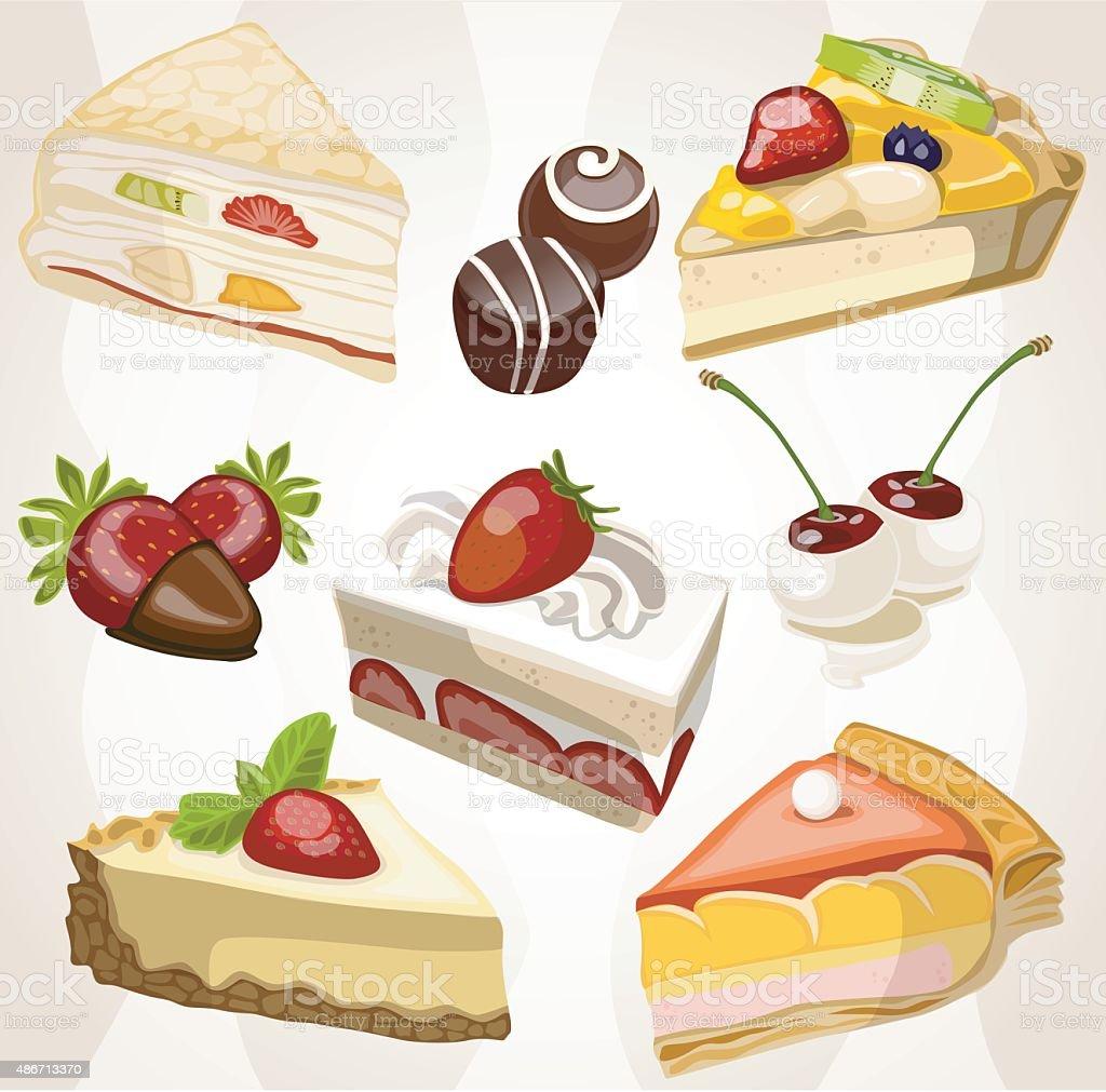 background cake candy vector art illustration