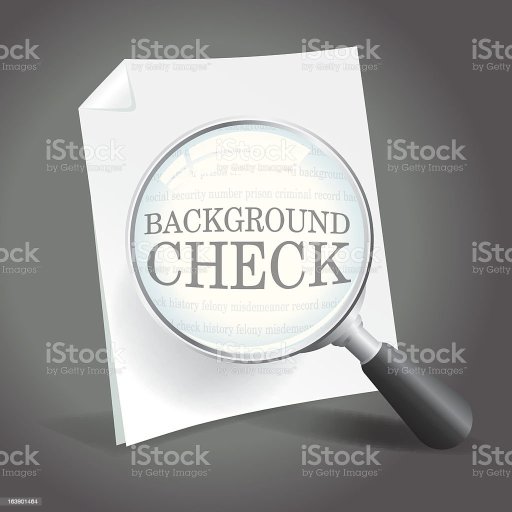 Background Check vector art illustration