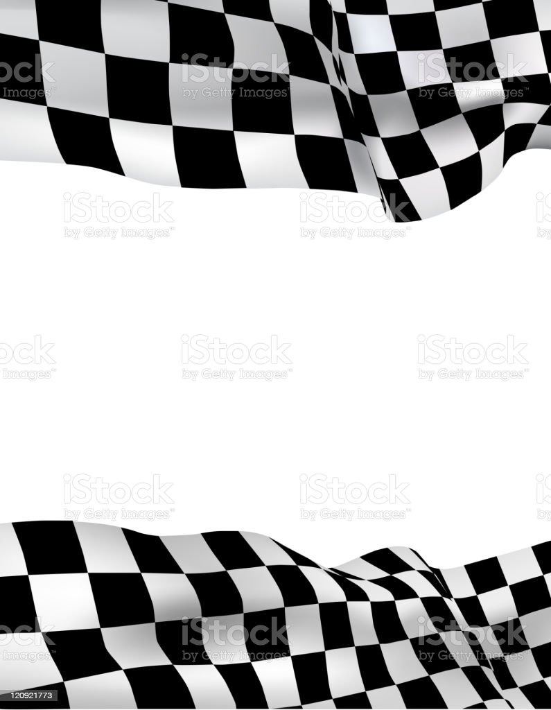 Background checkered flag vector art illustration