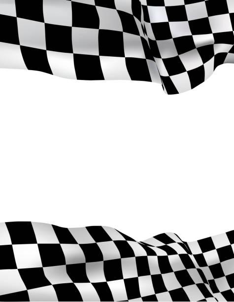 Background Checkered Flag Vector Art Illustration