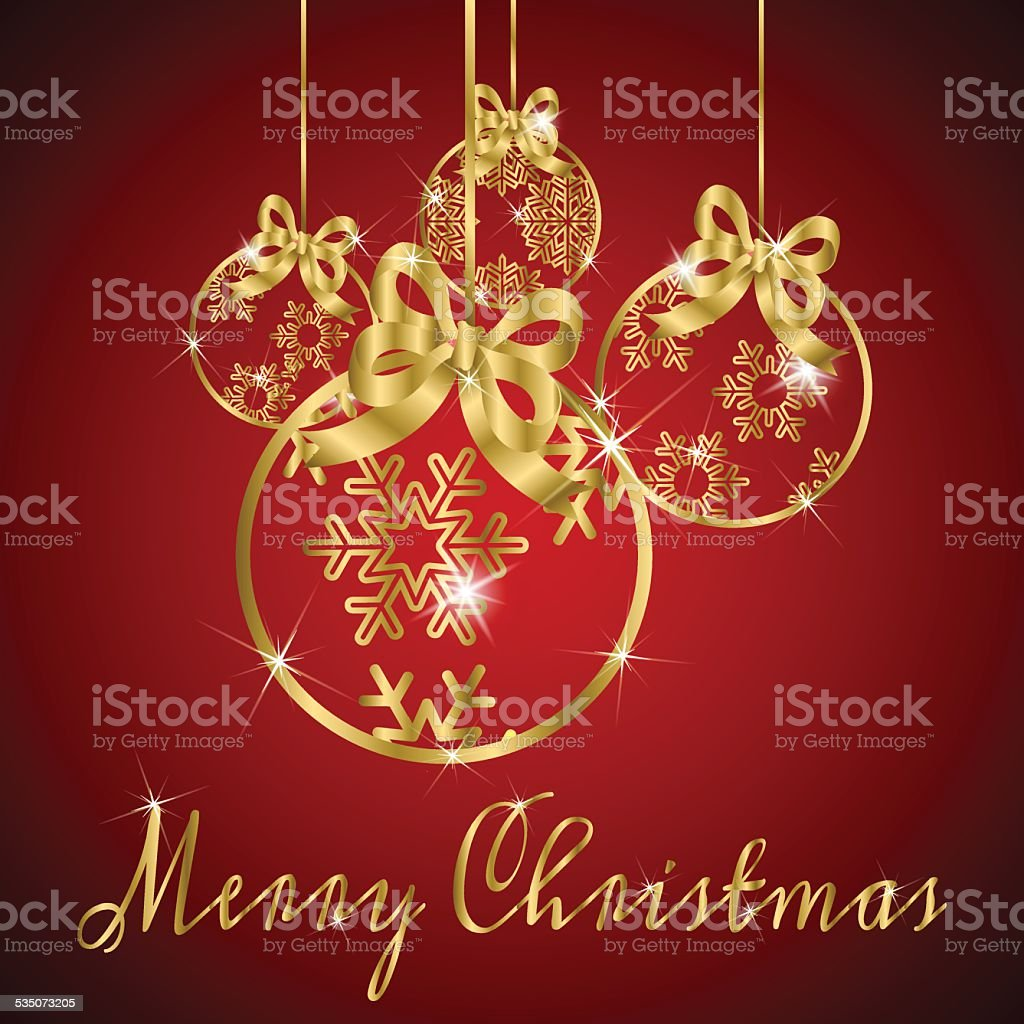 Background Christmas Ball Gold Stock Vector Art More Images Of