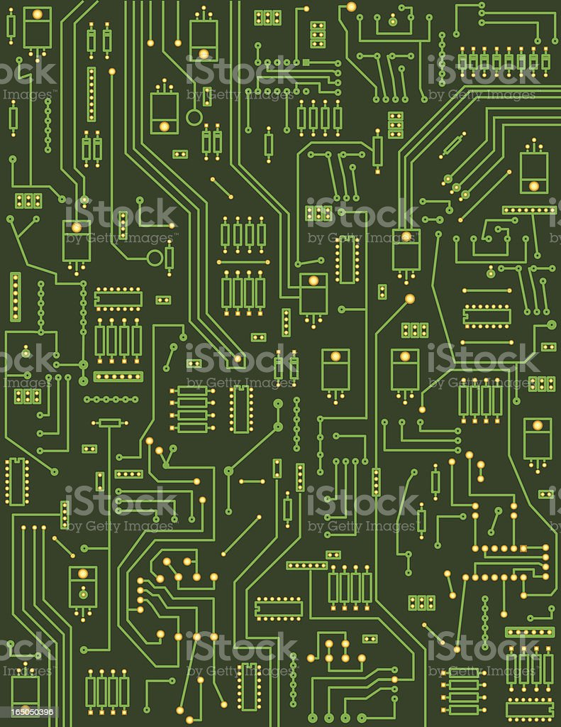 Background - Circuitboard vector art illustration