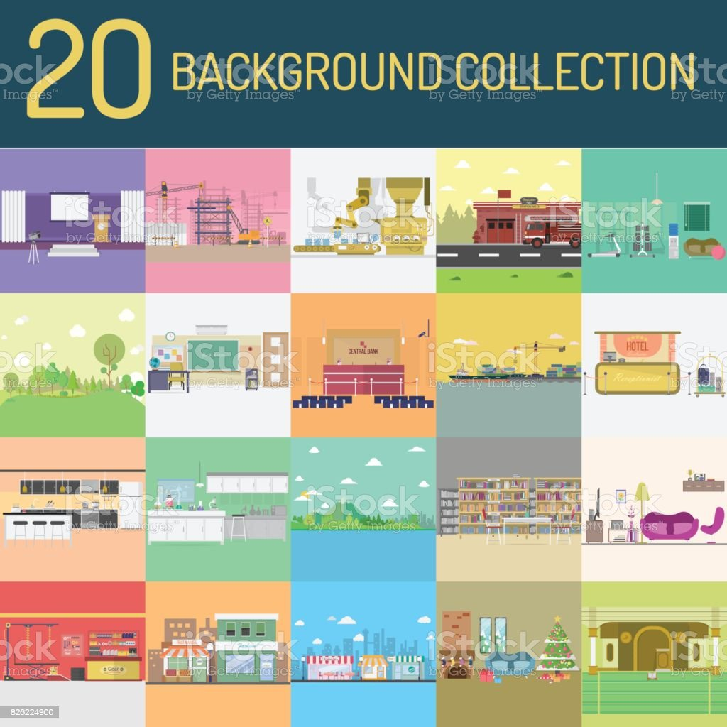 Background Collection vector art illustration