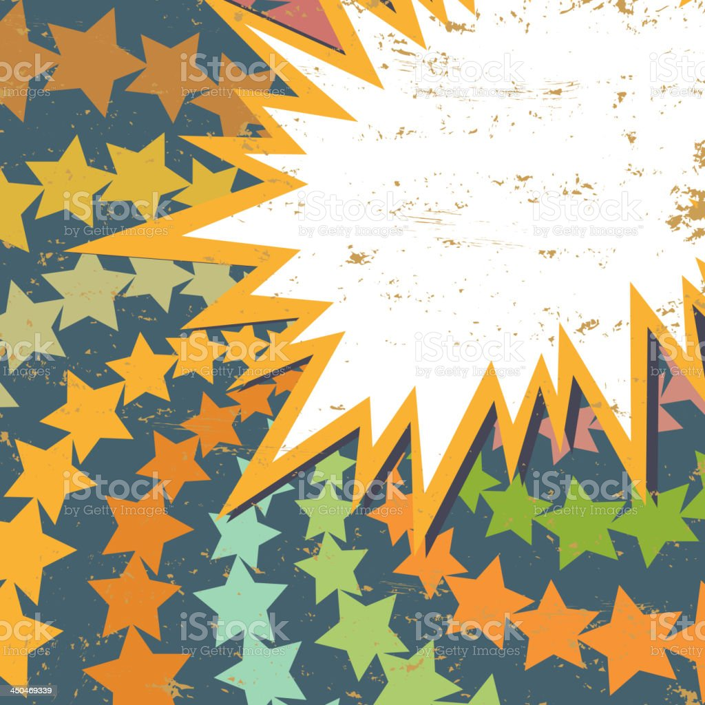 Background. Comic book explosion vector art illustration