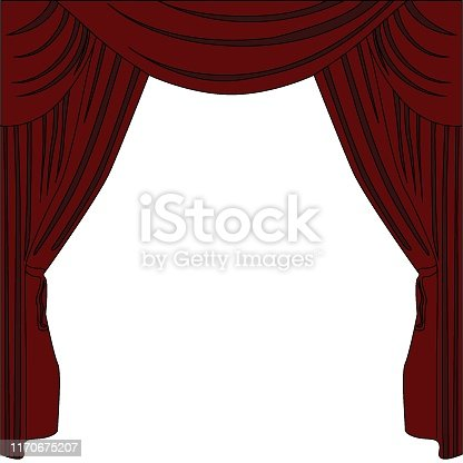 istock Background curtain stage. 1170675207