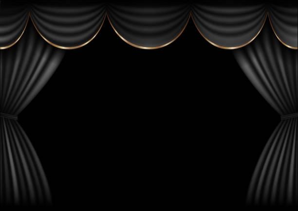 illustrazioni stock, clip art, cartoni animati e icone di tendenza di background  curtain stage. - sipario