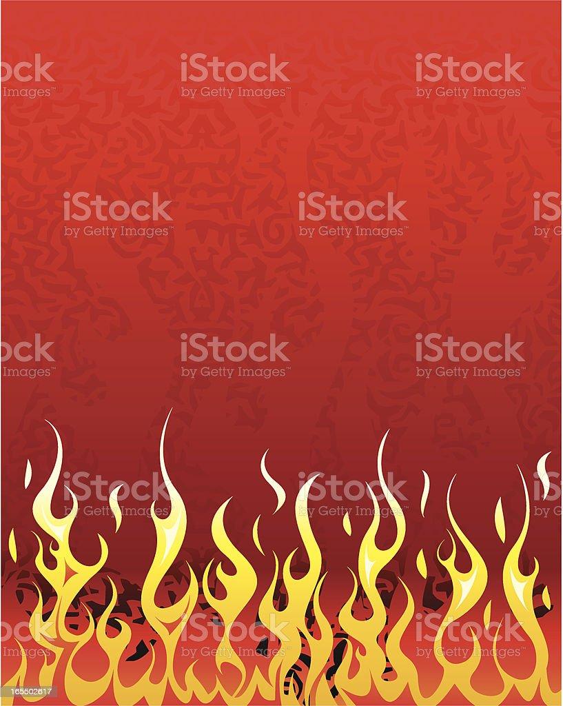 background de fuego