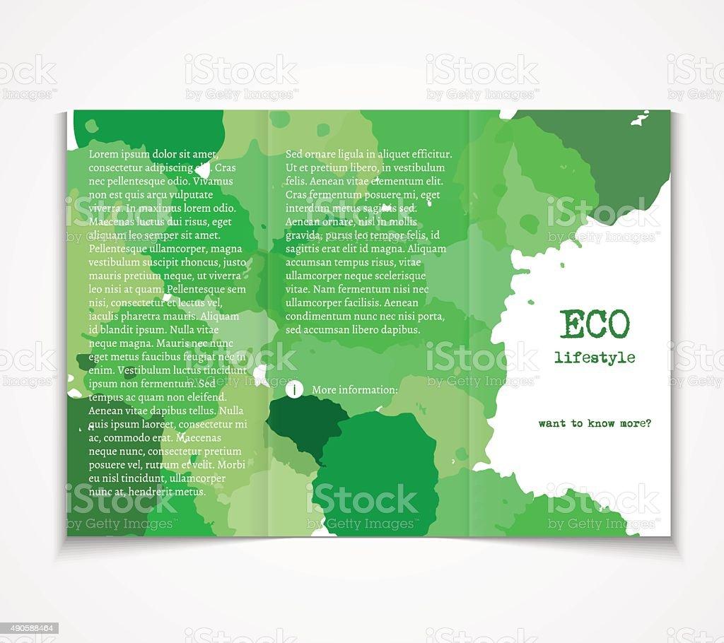 background design ecology brochure template flyer vector illustration tri fold design royalty
