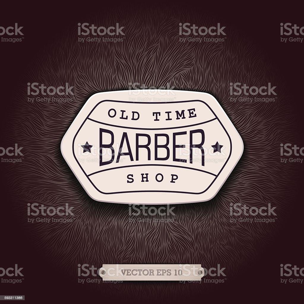 Background design for Barbershop vector art illustration