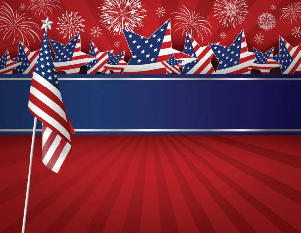 USA background design of American flag for 4 july independence day or other celebration vector art illustration