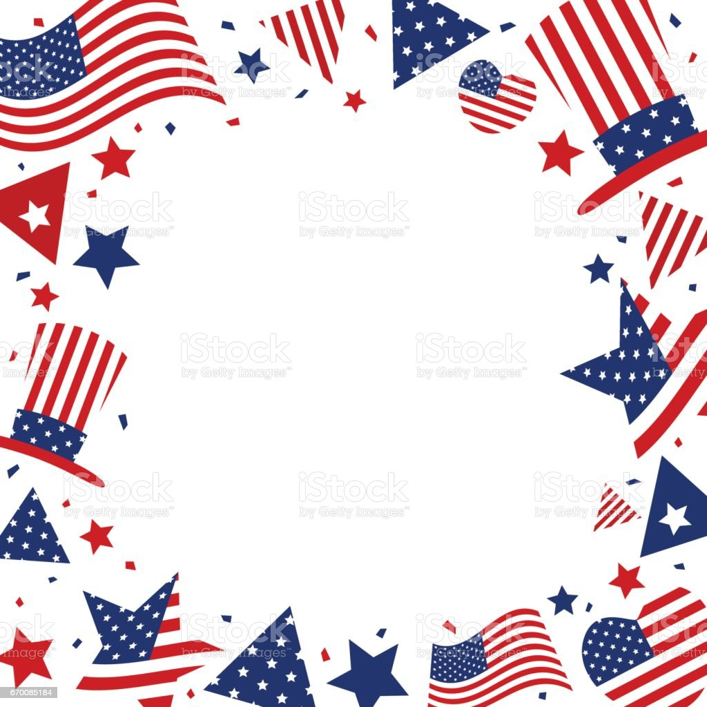 USA background design of American flag with copy space for 4 july Independence day or other celebration vector art illustration