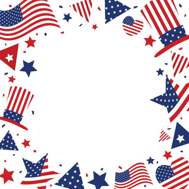 usa background design of american flag with copy space for 4 july independence day or other celebration - columbus day stock illustrations