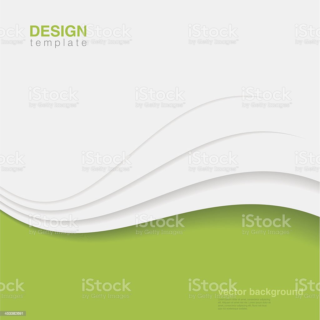 Background Eco Abstract Vector. Creative ecology design vector art illustration