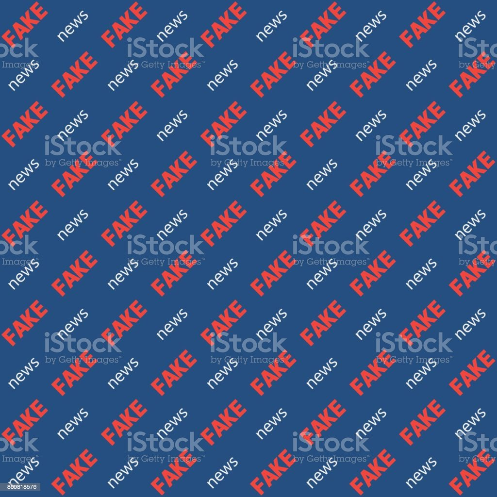 Background fake news the word diagonal text, vector seamless pattern for video blog substitution Chroma Key, seamless pattern background fake news  television, vlog vector art illustration