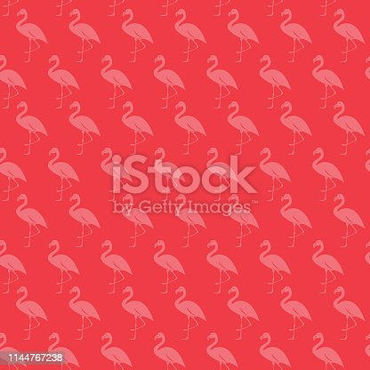 Vector of Background Flamingo Seamless Pattern