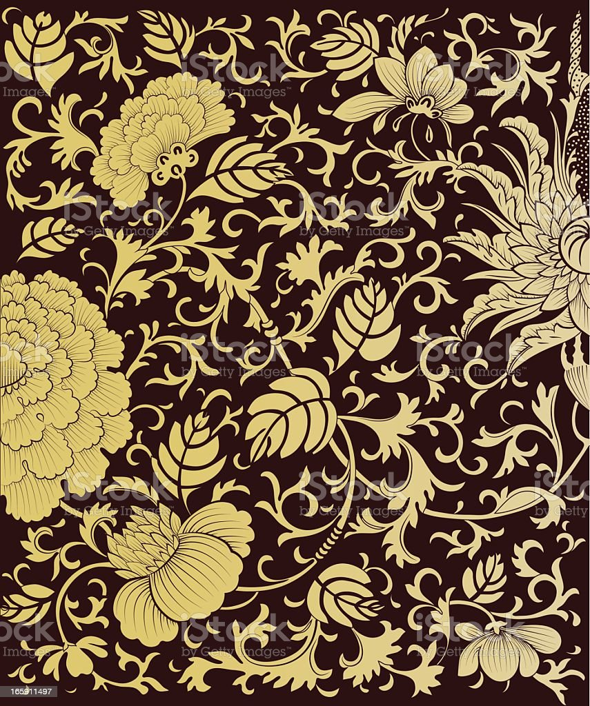 background floral vintage vector royalty-free stock vector art