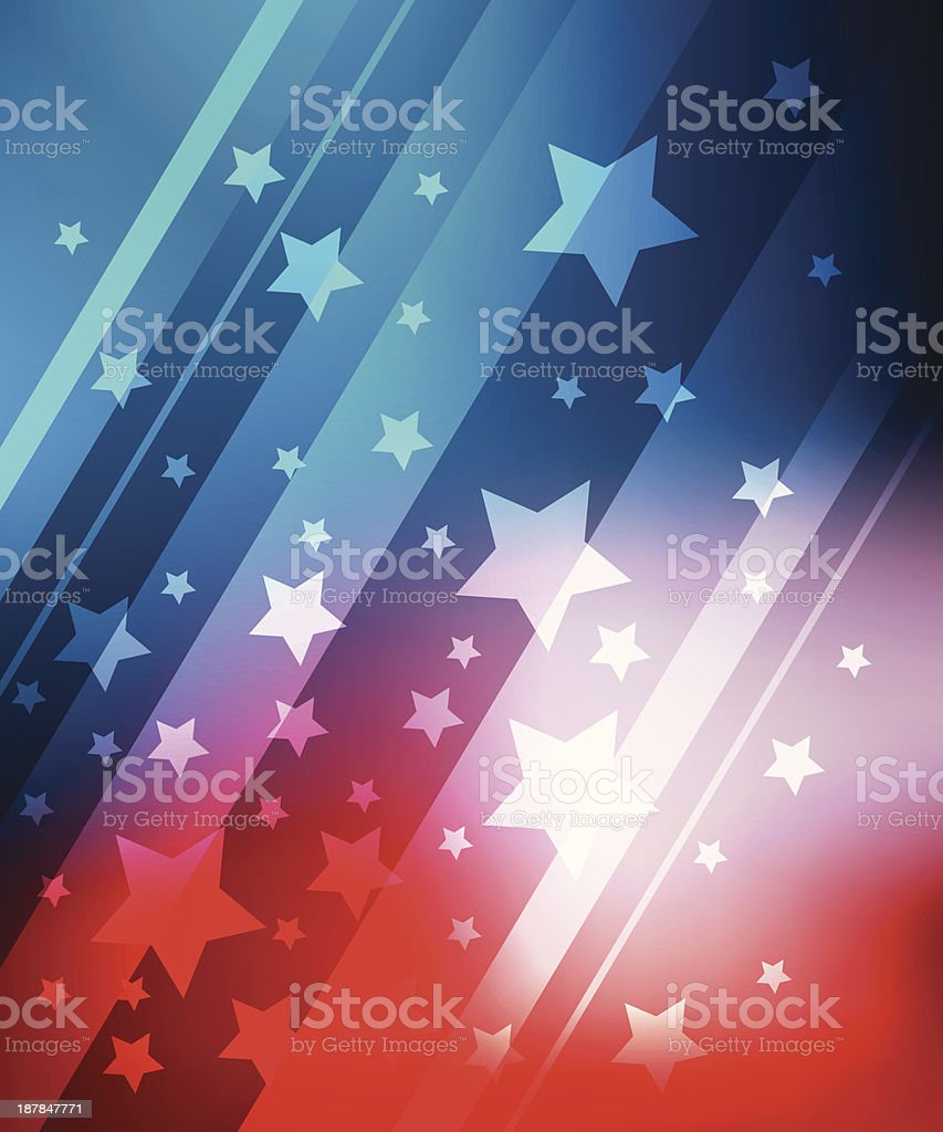Background for 4 july vector art illustration
