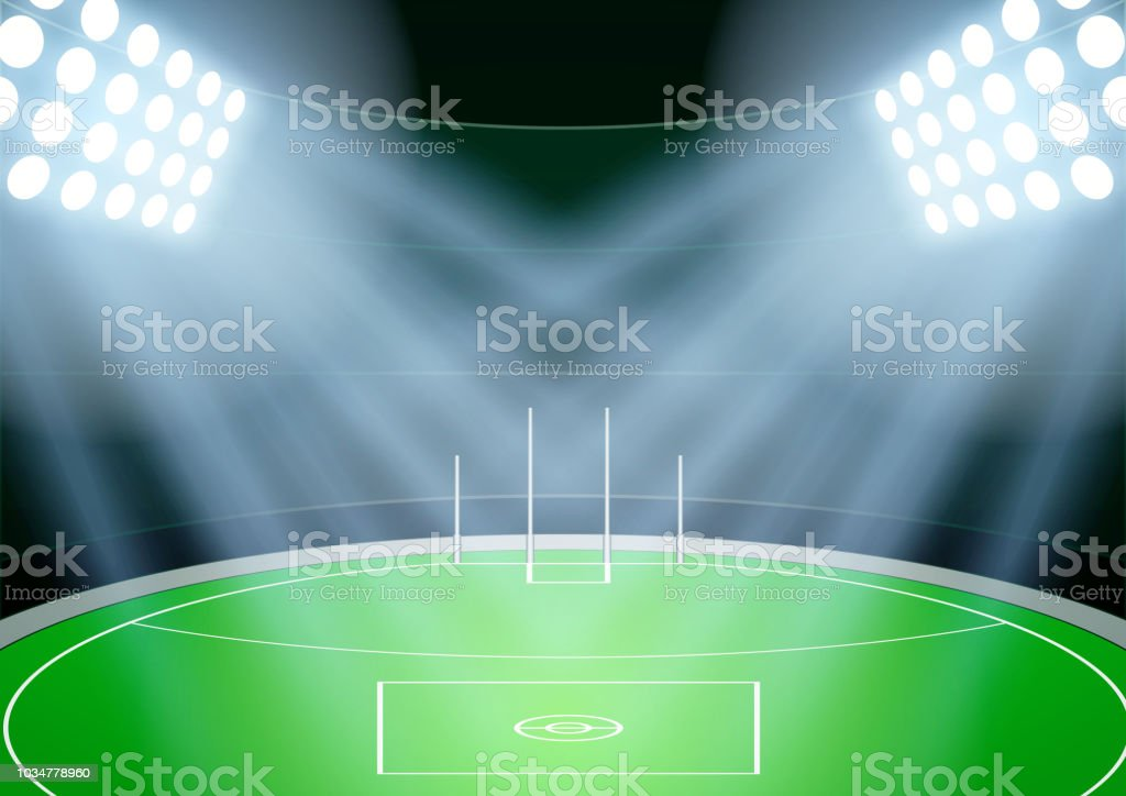 Background for Australian football stadium vector art illustration
