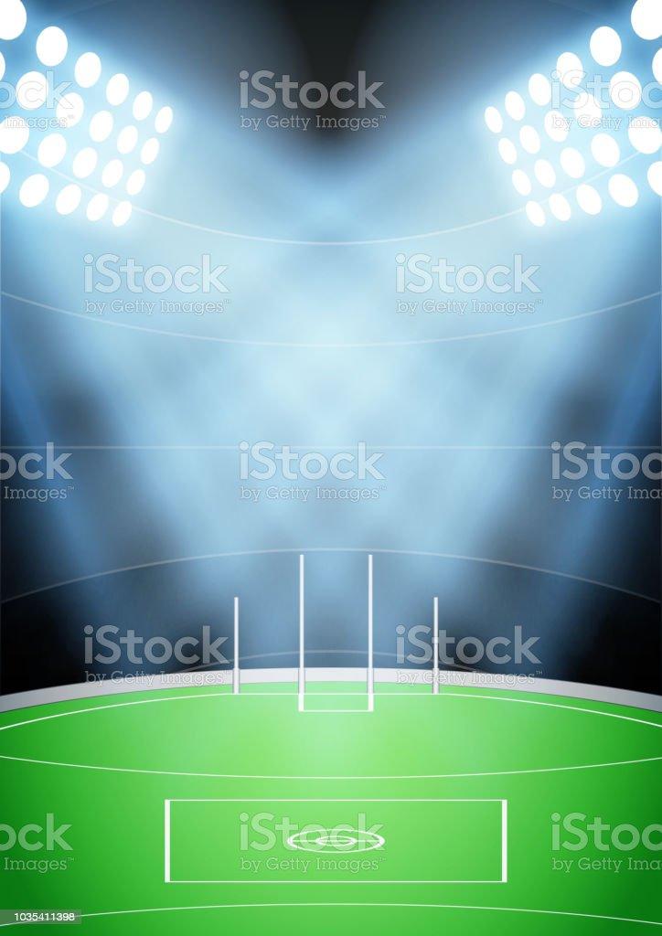Background for Australian football stadium vector art illustration