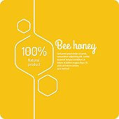 Stylish and modern background for bee products. Vector illustration.