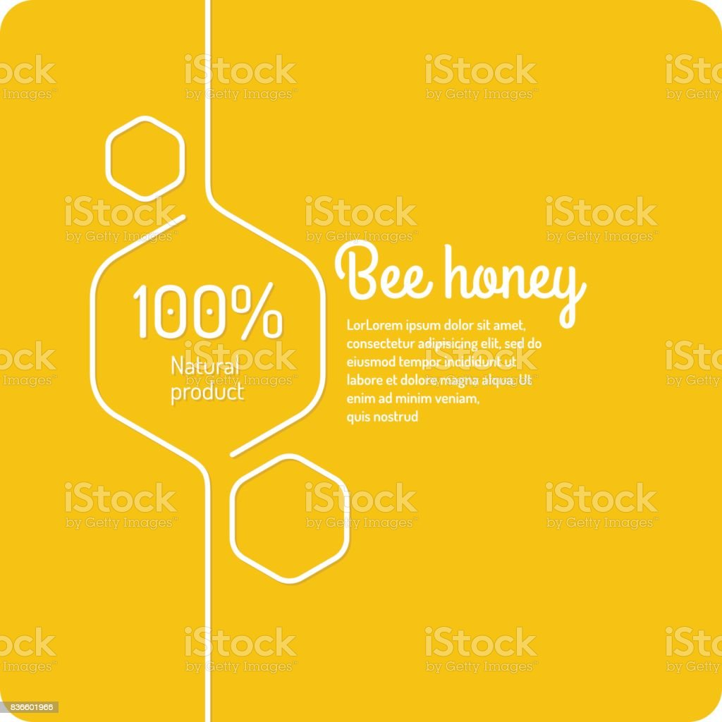 Background for bee products vector art illustration