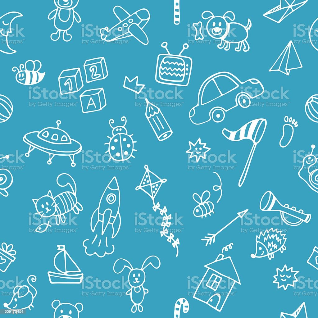 background for cute little boys hand drawn children drawings stock