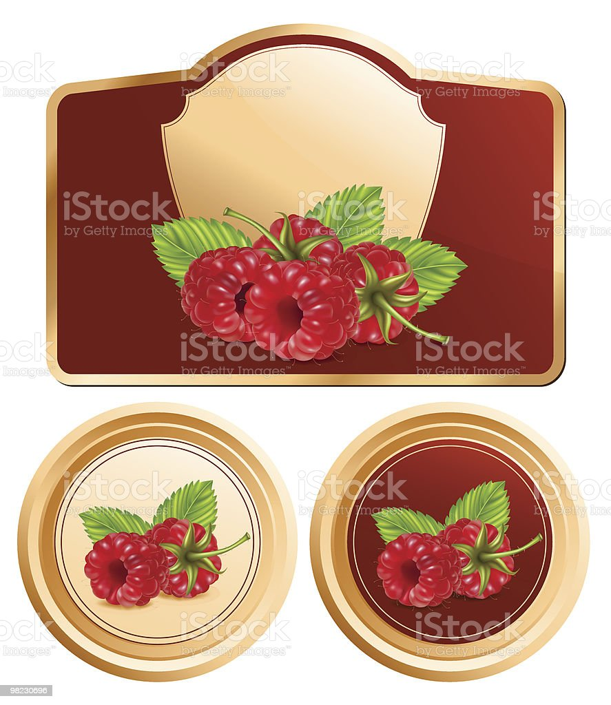Background for design of packing jam with vector raspberry. royalty-free background for design of packing jam with vector raspberry stock vector art & more images of berry fruit