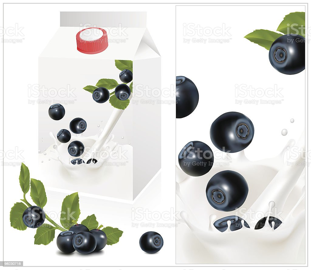 Background for design of packing yoghurt with blueberry. royalty-free background for design of packing yoghurt with blueberry stock vector art & more images of berry fruit