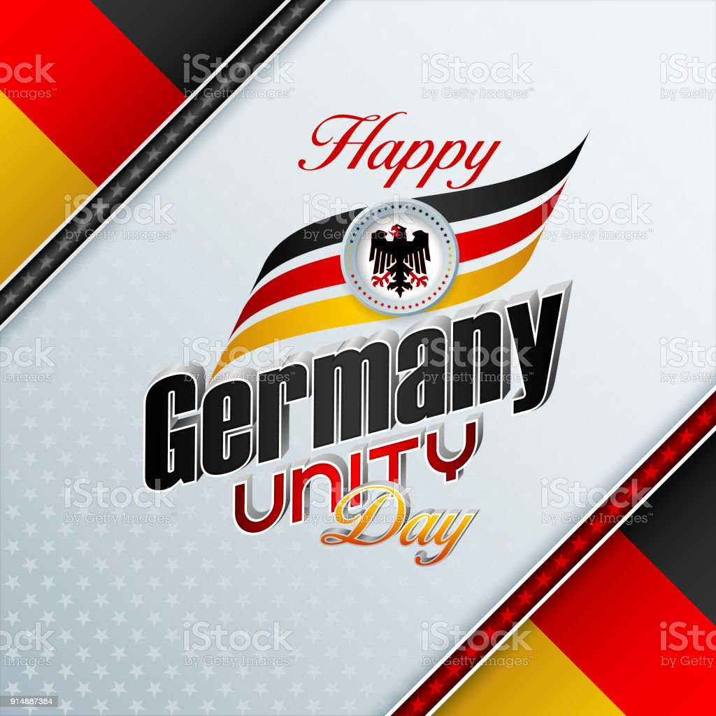 Background for German Unity day, celebration vector art illustration