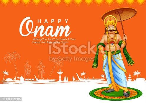 istock Background for Happy Onam festival of South India Kerala 1269035285