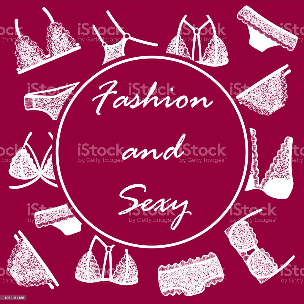 f7e0988dbc Fondo para promoción de productos con ropa interior de encaje dibujado a  mano de la mujer