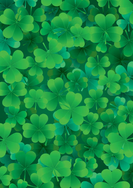 Background for St. Patrick's Day. Part 4. vector art illustration