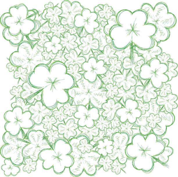 Background for St. Patrick's Day. Part 7. vector art illustration