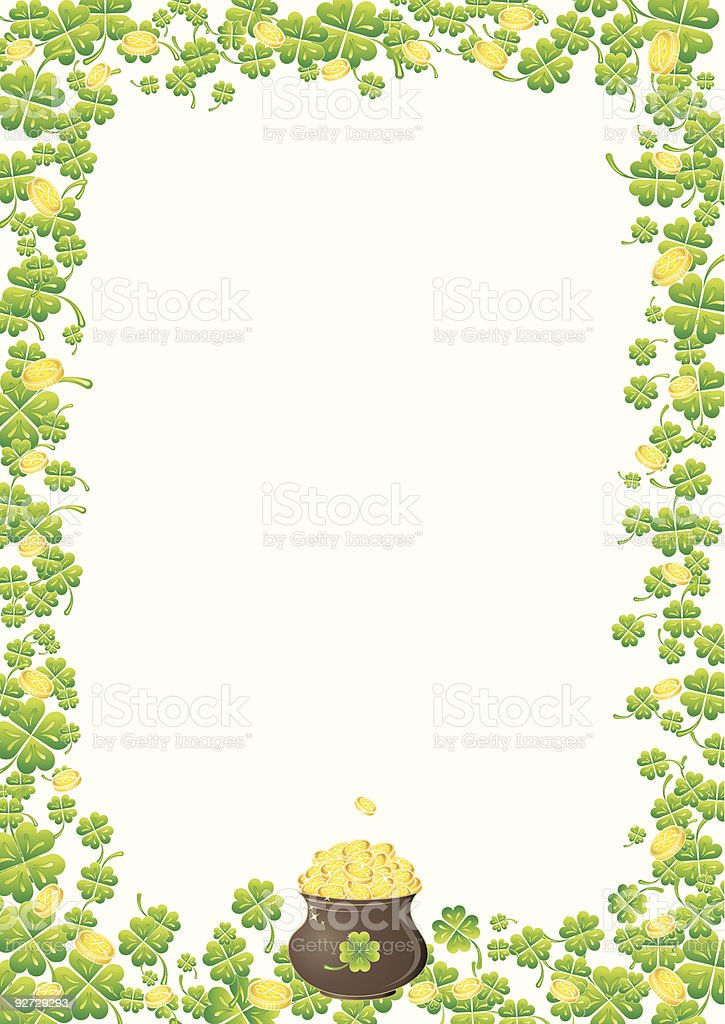 Background for St. Patrick's Day royalty-free stock vector art