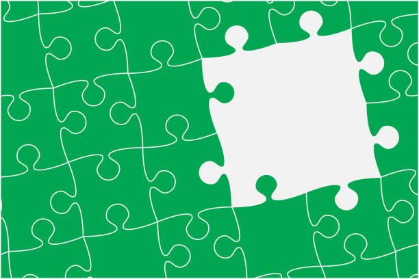 Puzzle Piece Border Illustrations, Royalty-Free Vector ...