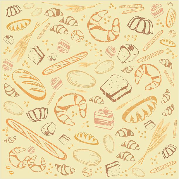 背景からパン - 食パン点のイラスト素材/クリップアート素材/マンガ素材/アイコン素材