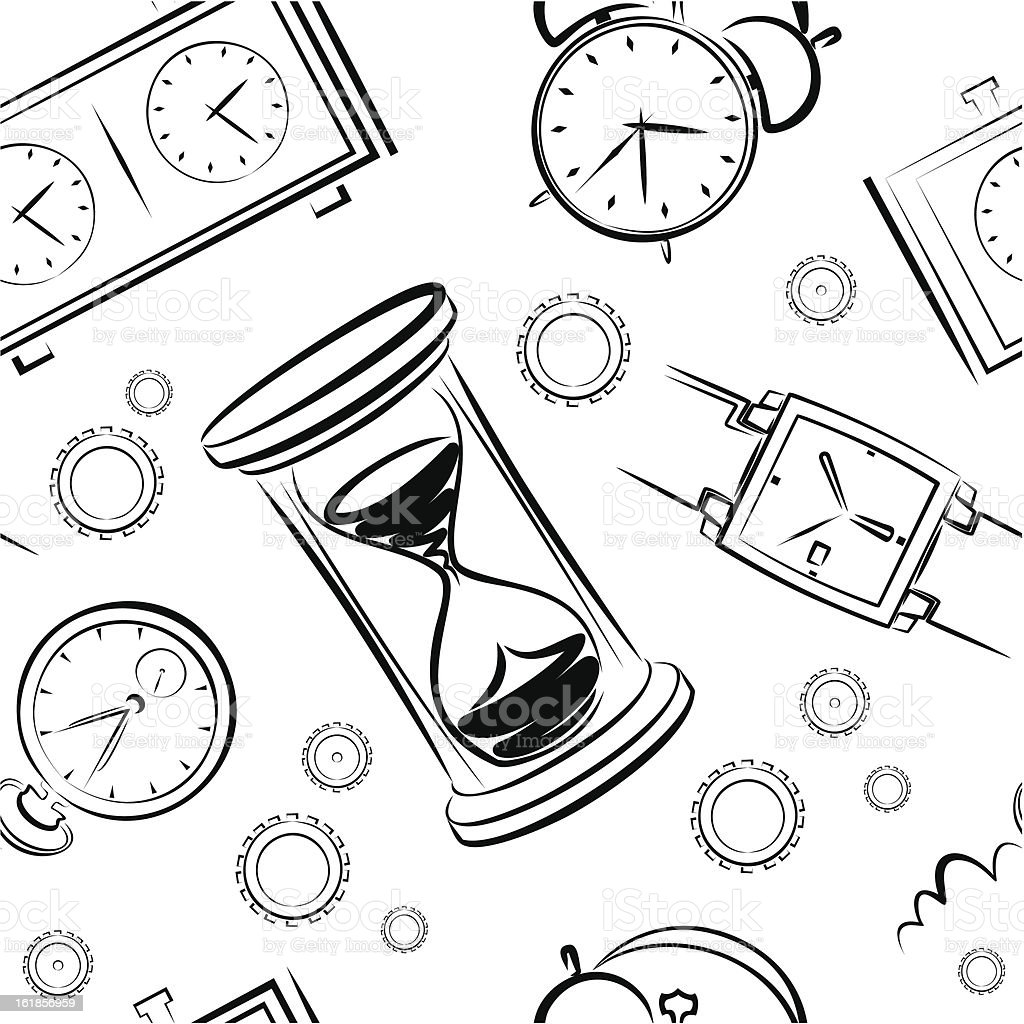 background from clocks and gears royalty-free stock vector art